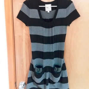 Striped Sweater Dress POCKETS !!